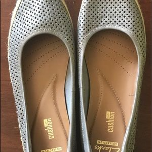Clarks Perforated Leather Espadrilles